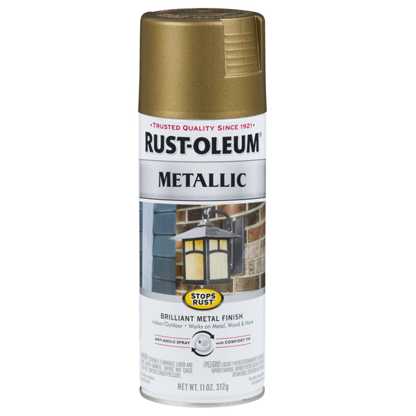 Rust-Oleum® 313142 Stops Rust® Metallic Spray Paint, Champagne Bronze, 11 Oz
