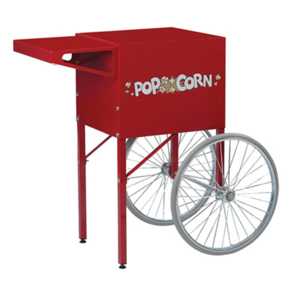 "Gold Medal® 2669CR Red Popcorn Cart with Popcorn Graphics with Sturdy 18"" Wheels"