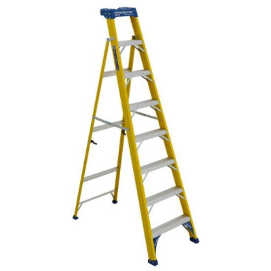 Louisville Ladder® FXS2008 2 In 1 Fiberglass Cross Step Ladder, 8'