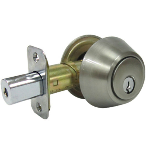 Tru-Guard DLX22-KA3Z Double Cylinder Deadbolt w/5 Pin Key Cylinder, Satin Nickel