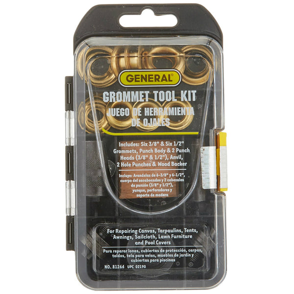 "General Tools® 81264 Multi-Size Grommet Kit with 1/2"" & 3/8"" Grommets"