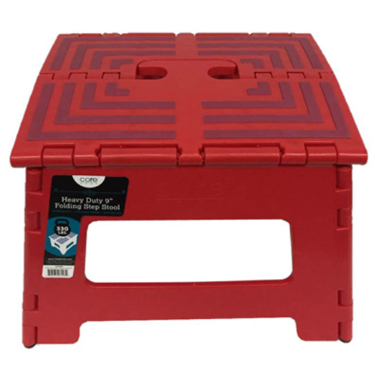 Core Home™ 14056 Heavy Duty Folding Step Stool, Red Color, 9""