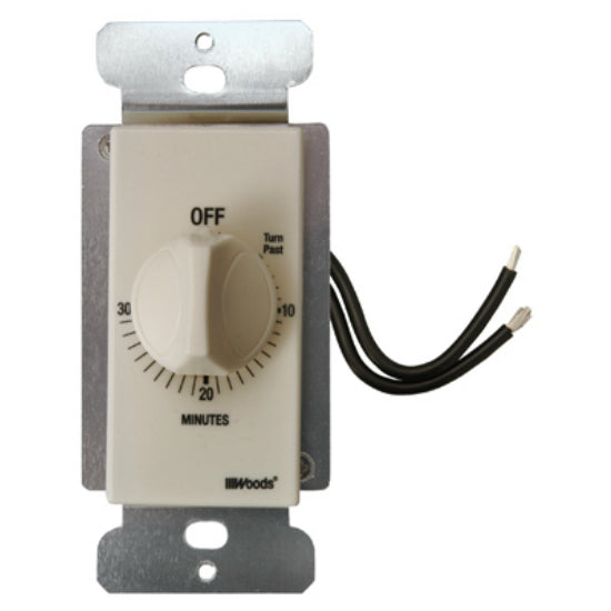 Woods® 59715 In Wall Spring Wound Timer, 30 Minute, Light Almond Color