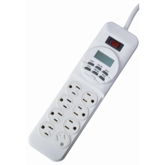 Woods® 049690WC Indoor Digital Power Strip Timer