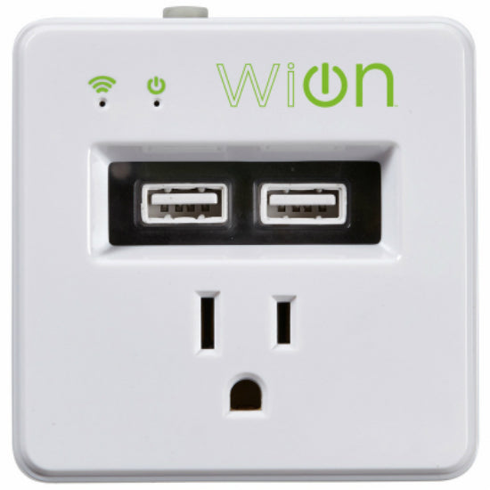 Woods® 50055 Wion™ Indoor Wi-Fi™ Wall Tap Smart Switch Timer with USB