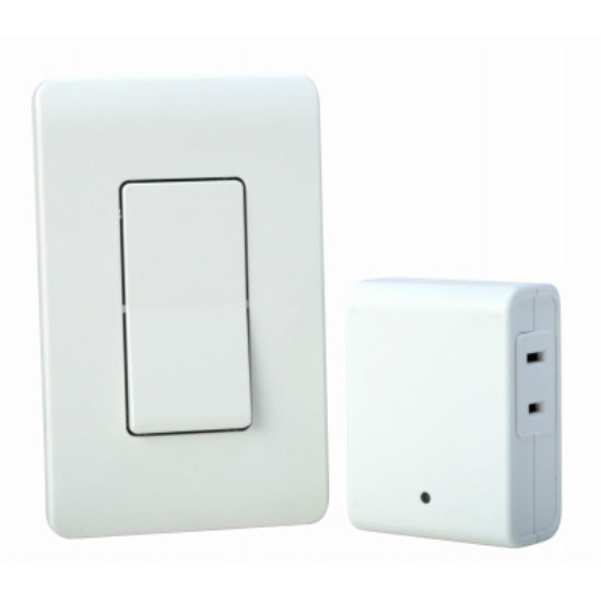 Woods® 59773 Indoor Wireless Wall Switch Remote, White