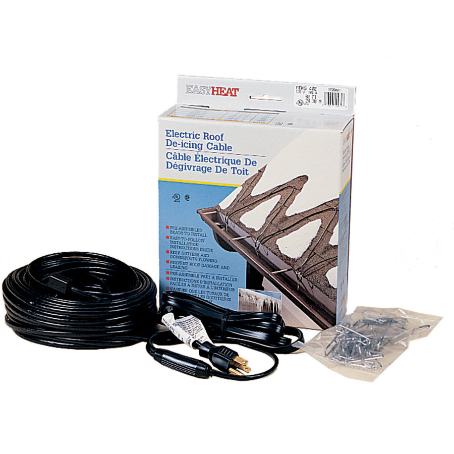 Easy Heat ADKS-1200 Electric Roof & Gutter De-Icing Heating Cable, 1200W, 240'