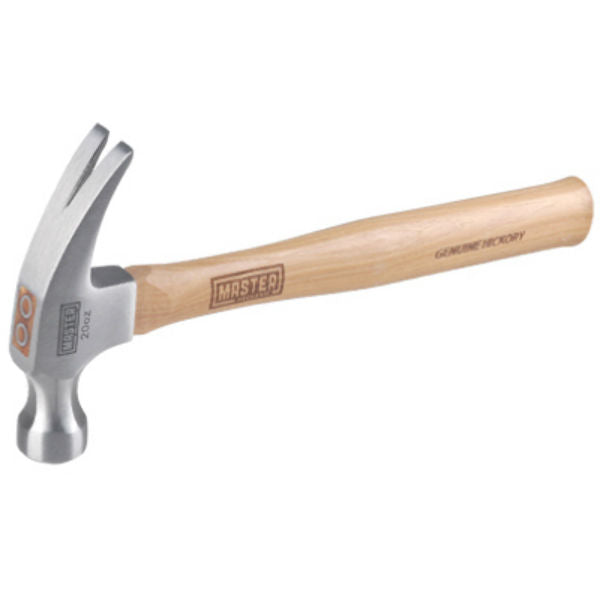 Master Mechanic 216629 Straight Claw Hammer with Hickory Handle, 20 Oz