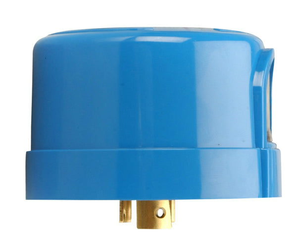 Woods® 59412 Heavy-Duty Outdoor Twist-To-Lock Photocontrol, Blue, 110-277V