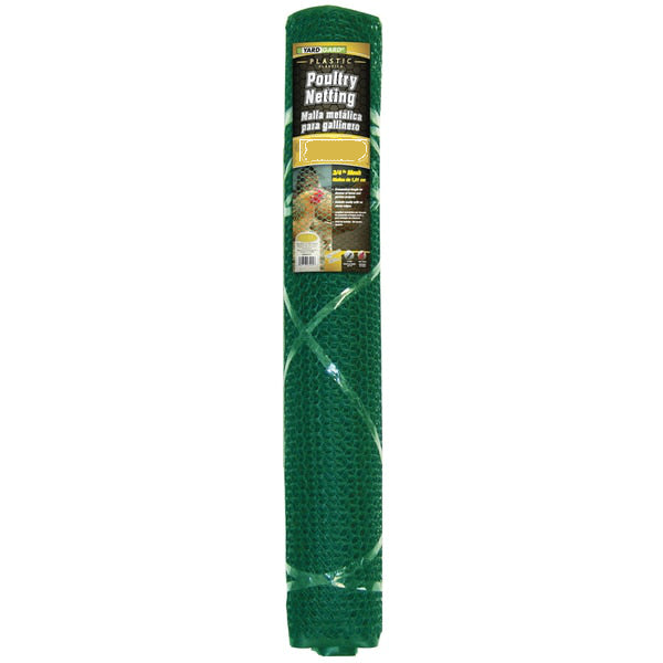 "YardGard® 889242A Plastic Poultry Netting, Green, 3/4"" Mesh, 2' x 25'"