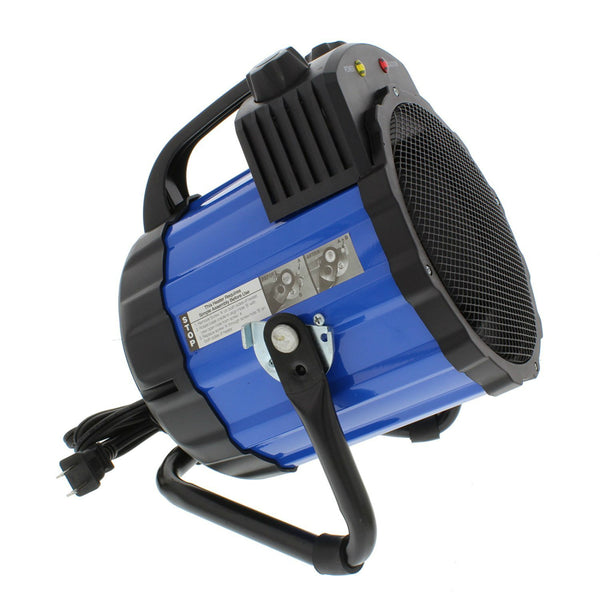 Comfort Zone® CZ285 Ceramic Electric Barrel Fan-Forced Utility Heater, Blue