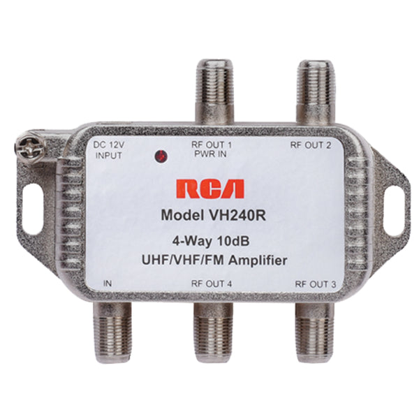 RCA VH240R Four-Way Video Signal Amplifier & Splitter, 5-42MHz