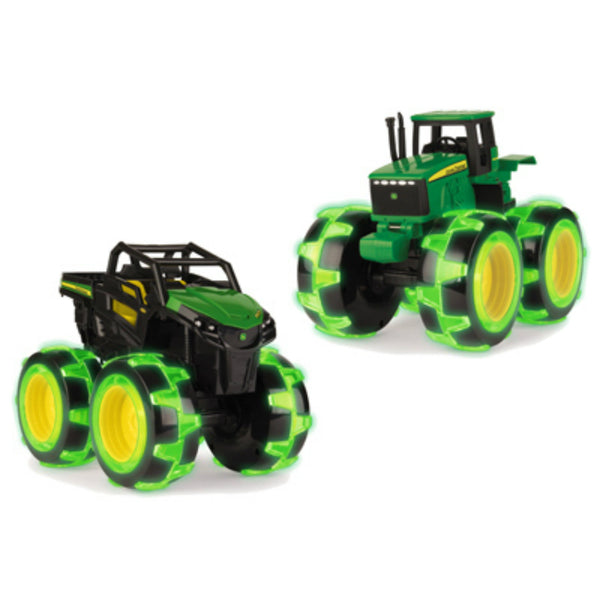 John Deere 37792B Monster Treads Lightning Wheel Toy, Assorted, Gator Or Tractor