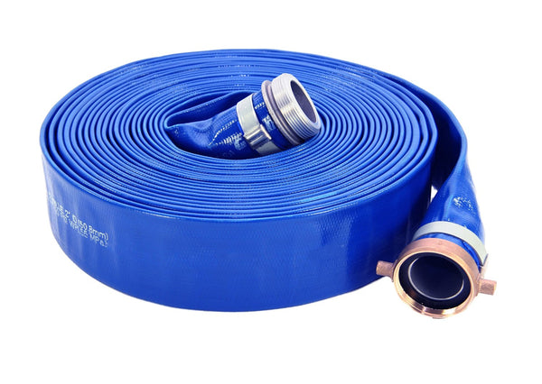 "Master Plumber HA3853003 PVC Pump Discharge Hose Assembly, Blue, 2"" x 50'"