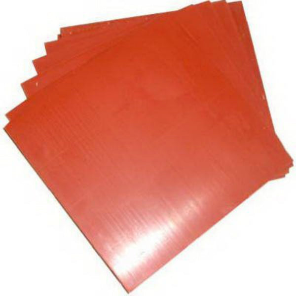 "Master Plumber R87004002 Red Rubber Square Gasket Material, 12"" x 12"", 12-Pack"