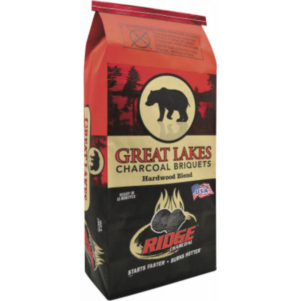Great Lakes® 192-115-021 Ridge Charcoal Briquettes, 15.4 Lbs