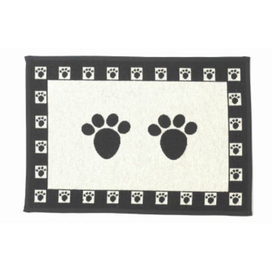 PetRageous Designs® 10209 Paws Tapestry Placemat, Natural/Black