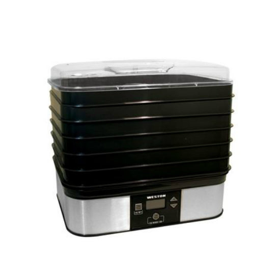 Weston 75-0401-W Digital Food Dehydrator, 6 Tray, 120-Volt