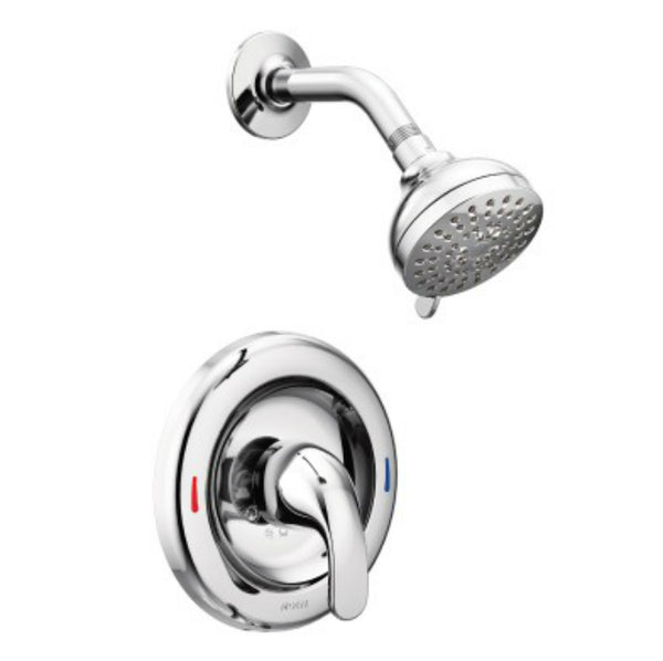 Moen® 82604 Adler Single Handle Posi-Temp® Shower Head, Chrome, 1.8 GPM