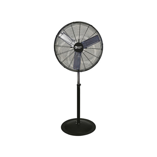 Comfort Zone® CZHVP30 High Velocity 3-Speed Pedestal Fan, Black, 30""