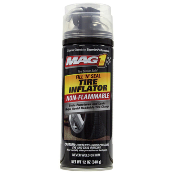 Mag-1® MG730412 Fill 'N Seal Non-Flammable Tire Inflator with Hose, 12 Oz