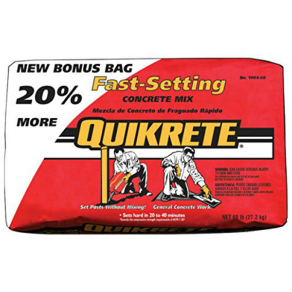 Quikrete® 100460 Fast-Setting Concrete Mix, 60 Lbs