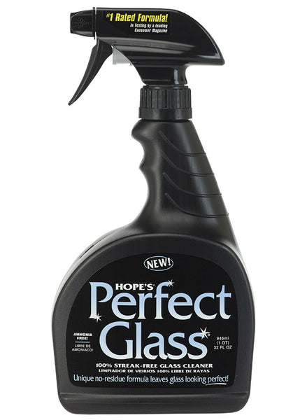 Hope's® 32PG6 Perfect Glass® 100-Percent Streak-Free Glass Cleaner, 32 Oz