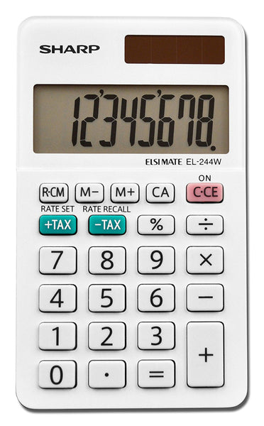 Sharp® EL-244WB Professional Pocket Calculator with 8-Digit LCD Display, Small