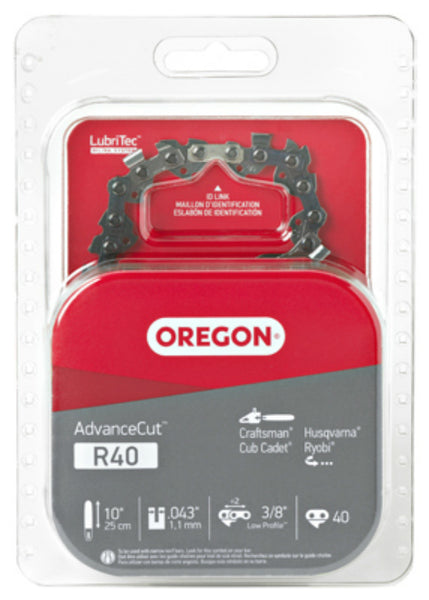 "Oregon® R40 Micro-Lite Chisel C-Loop Replacement Chain, 0.43"" Gauge, 10"""