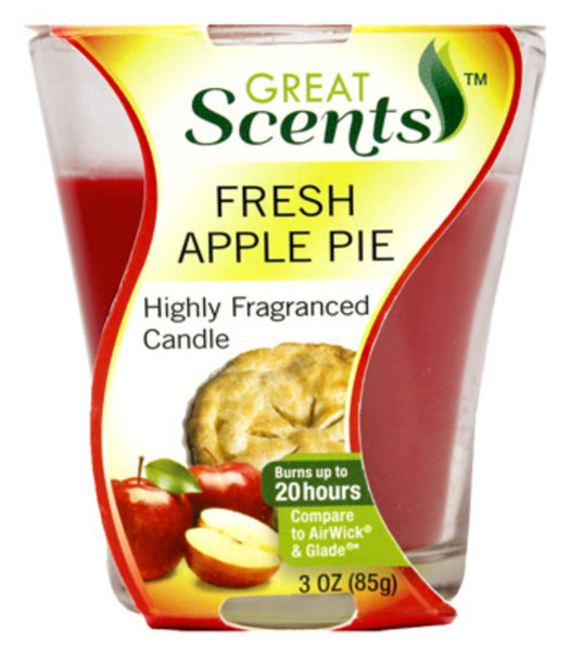Great Scents™ 92908-1 Highly Fragranced Candle, Fresh Apple Pie, 3 Oz