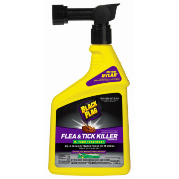 Black Flag HG-11108 Flea & Tick Killer Concentrate Yard Treatment Spray, 32 Oz