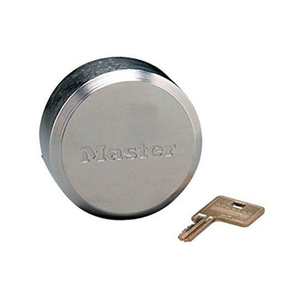 Master Lock® 6271 ProSeries® Hockey Puck Shackleless Lock, Chrome, 2-7/8""