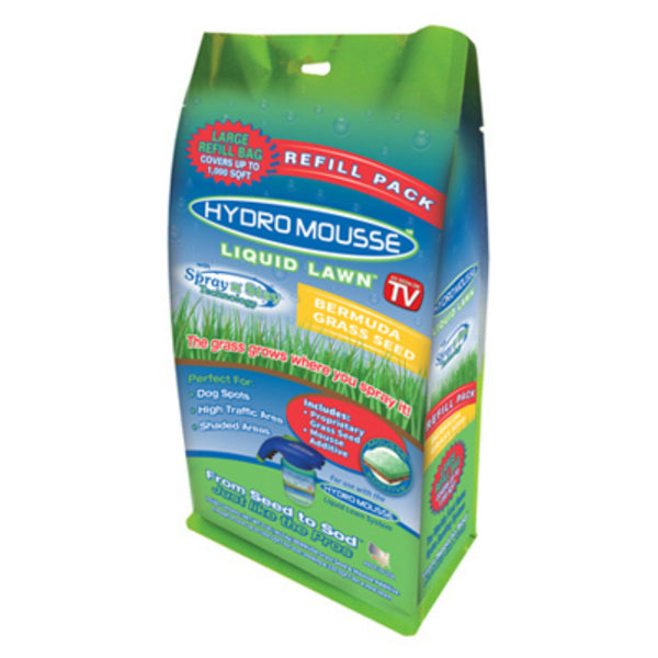 Hydro Mousse 17500-6 Liquid Lawn Bermuda Grass Seed, Spray-n-Stay, As Seen On TV