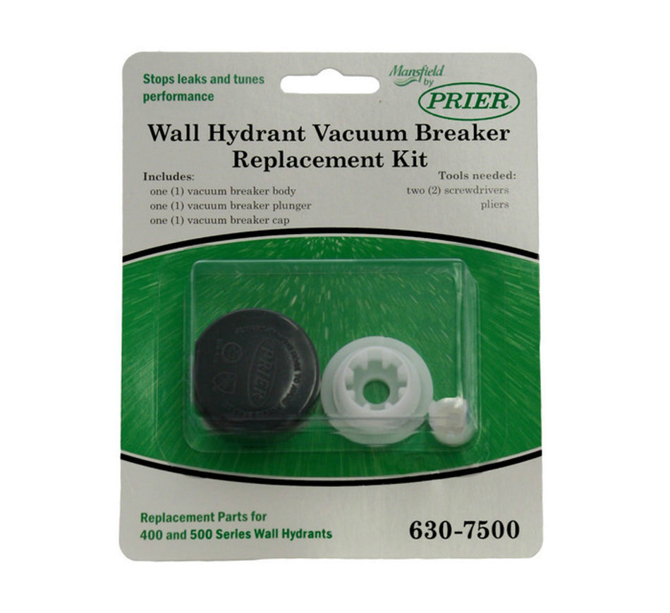 Prier 630-7500 Wall Hydrant Vacuum Breaker Replacement Kit, Gray