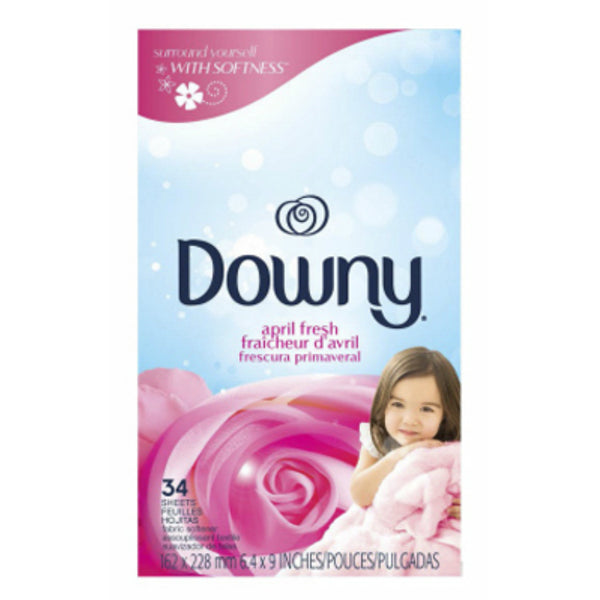 Downy® 82329 April Fresh™ Fabric Softener Dryer Sheets, 34-Count