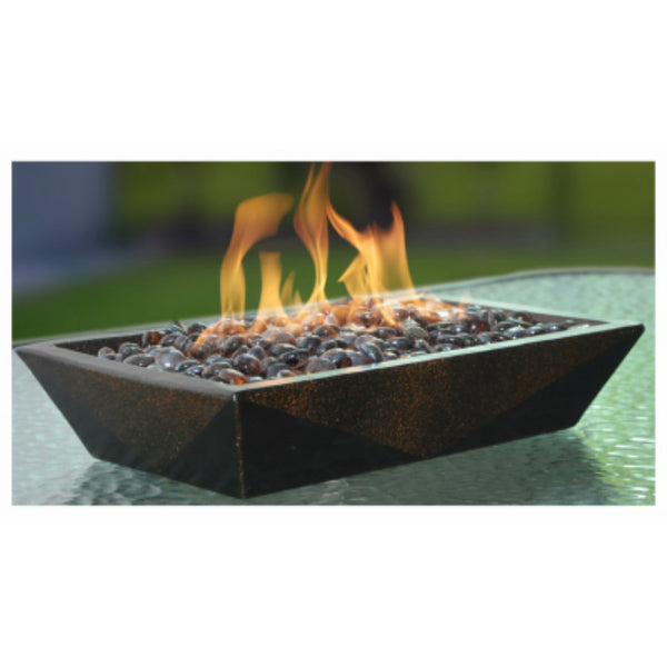 Bond 174 50660 Rectangle Steel Table Fire Pit With Lavaglass