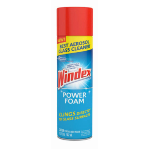 Windex® 70875 Power Foam Aerosol Glass Cleaner, 19.7 Oz