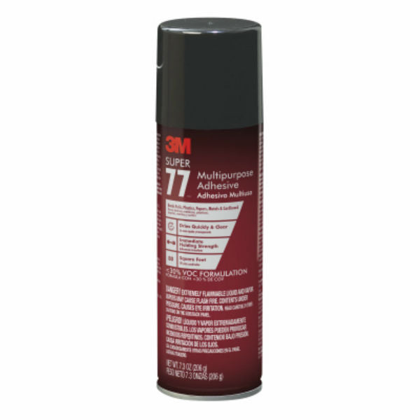 3M™ 77-10VOC30 Super 77™ Multipurpose Spray Adhesive, 7.3 Oz