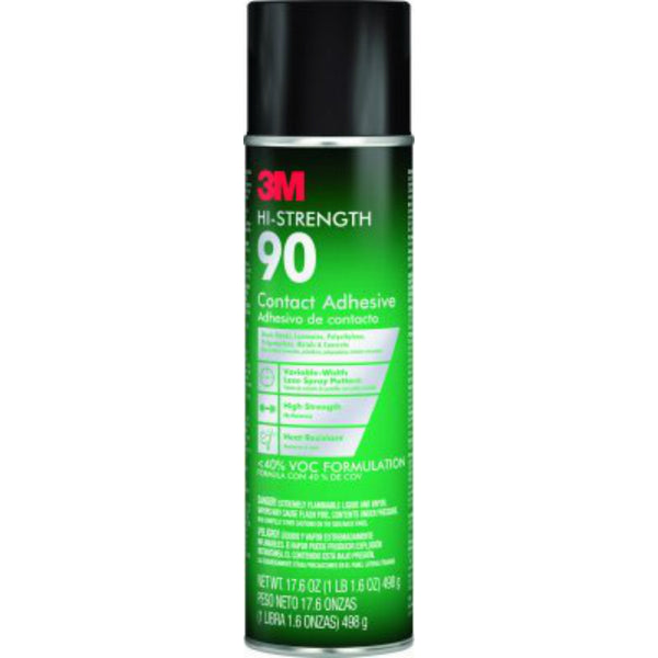 3M 90-24VOC40 Hi-Strength 90 Contact Adhesive, 17.6 Oz