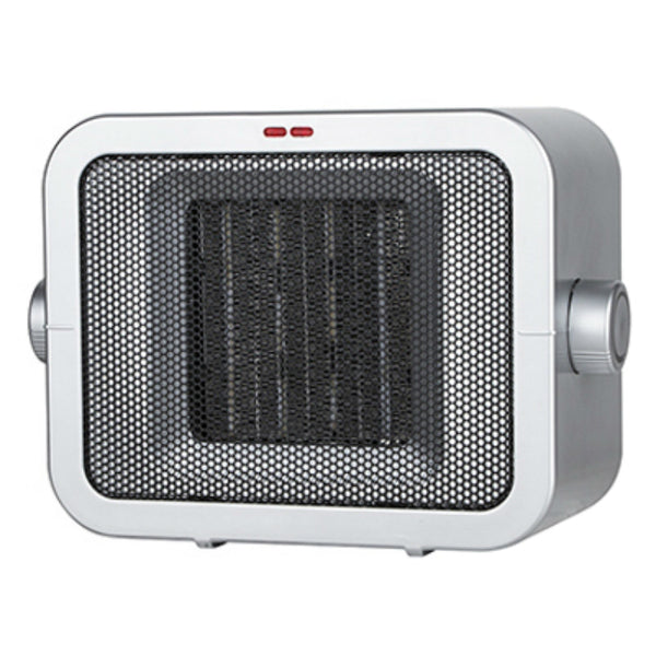 Konwin® PTC905 Compact Ceramic Heater with 2-Settings, Gun Metal
