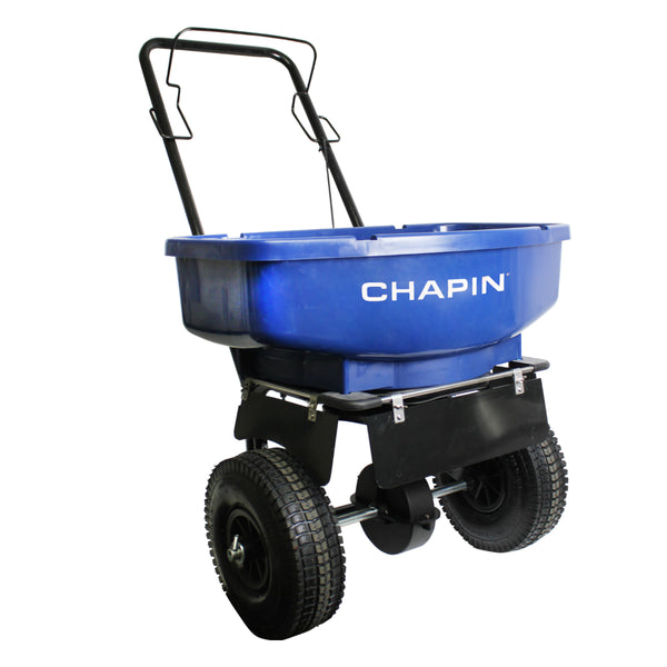 Chapin 81008A Salt & Ice Melt Spreader with Snow/Rain Cover, 80-Pound Capacity
