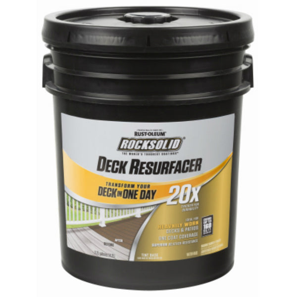Rust-Oleum® 300083 RockSolid® 20x Deck Resurfacer, Adobe, 4 Gallon