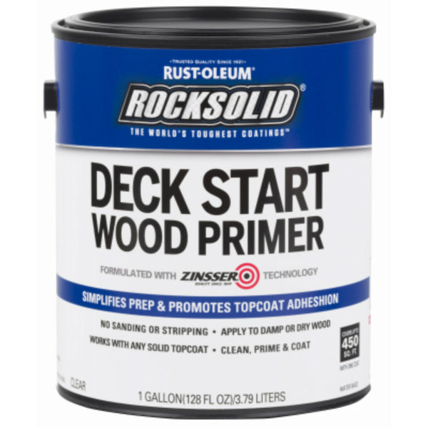 Rust-Oleum® 312283 RockSolid® Deck Start Wood Primer, Clear, 1 Gallon
