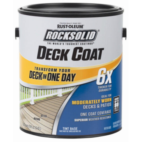 Rust-Oleum® 300113 RockSolid® 6x Deck Coat, Adobe, 1 Gallon