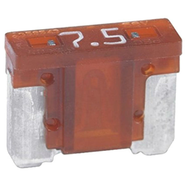 Bussmann BP/ATM-7-1/2-RP Fast Acting Automotive Mini Fuse, Brown, 7-1/2A, 5-Pack
