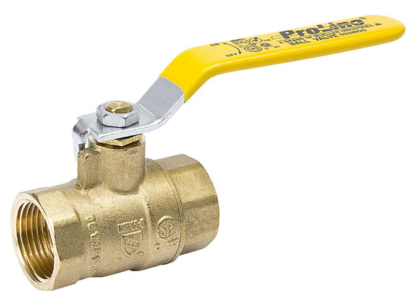 "ProLine® 107-817NL Forged Brass Full Port Ball Valve, 1-1/2"" IPS"