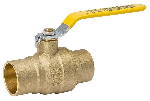 "ProLine® 107-853NL Forged Brass Full Port Ball Valve, 1/2"" CXC"