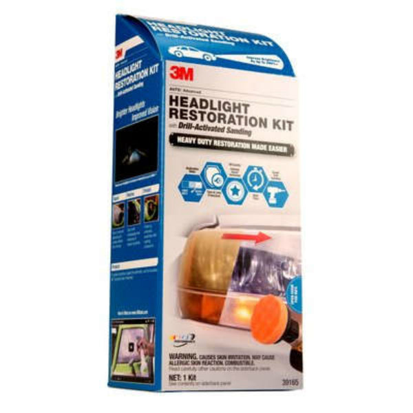3M™ 39175 Heavy Duty Headlight Restoration Kit with Drill Activated Sanding