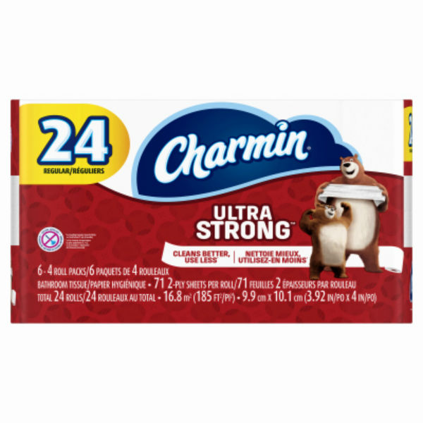 Charmin® 99016 Ultra Strong 2-Ply Toilet Paper, 24-Regular Roll