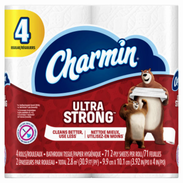 Charmin® 99015 Ultra Strong 2-Ply Toilet Paper, 71-Sheets, 4-Pack